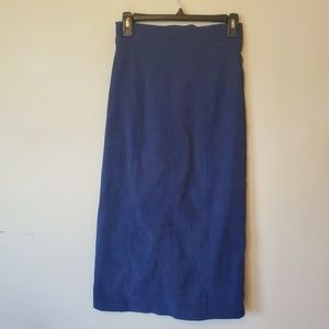 Moon River Skirts - Moon River Anthropologie Blue Lace Up Suede Skirt